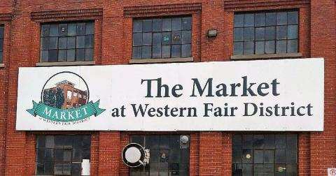 the market sign